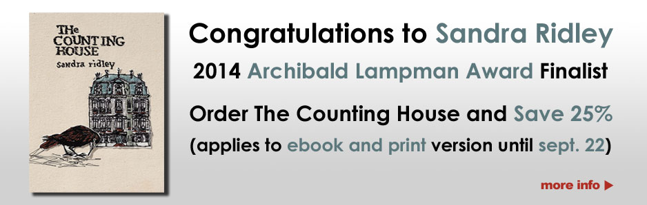 Sandra Ridley - 2014 Archibald Lampman Award Finalist