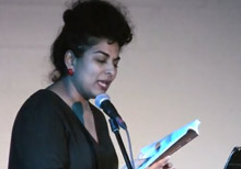 Divya Victor reading from Kith at the 2017 BookThug Fall Launch