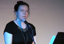 Emily Anglin reading from The Third Person at the 2017 BookThug Fall Launch