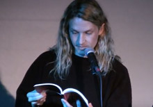 William Ellis reading from The Videofag Book at the 2017 BookThug Fall Launch