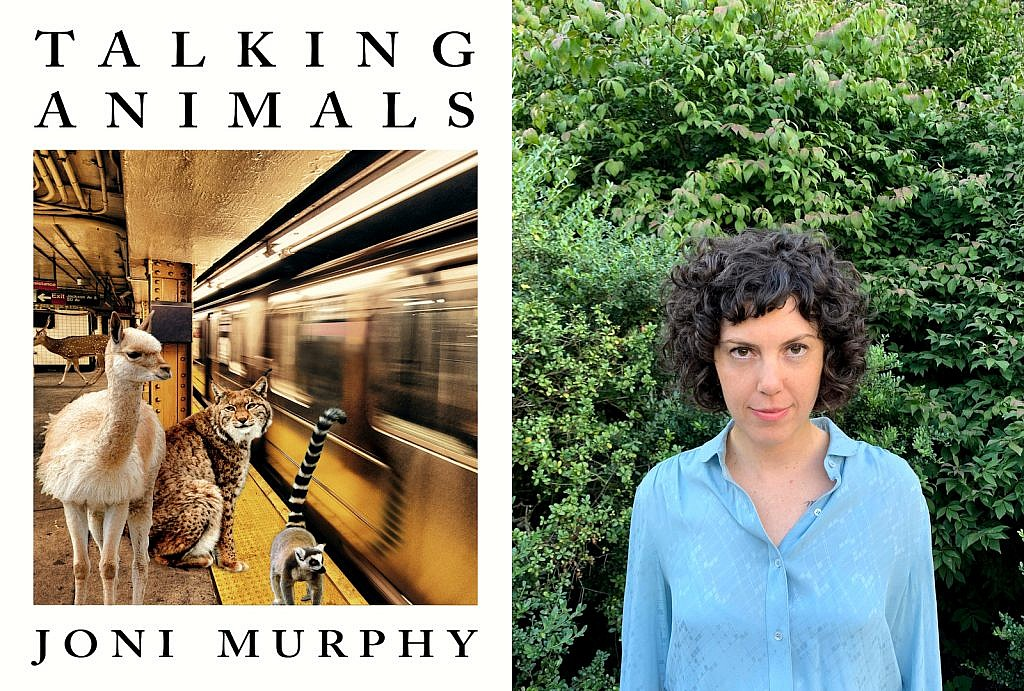 An image of author Joni Murphy and her novel, Talking Animals