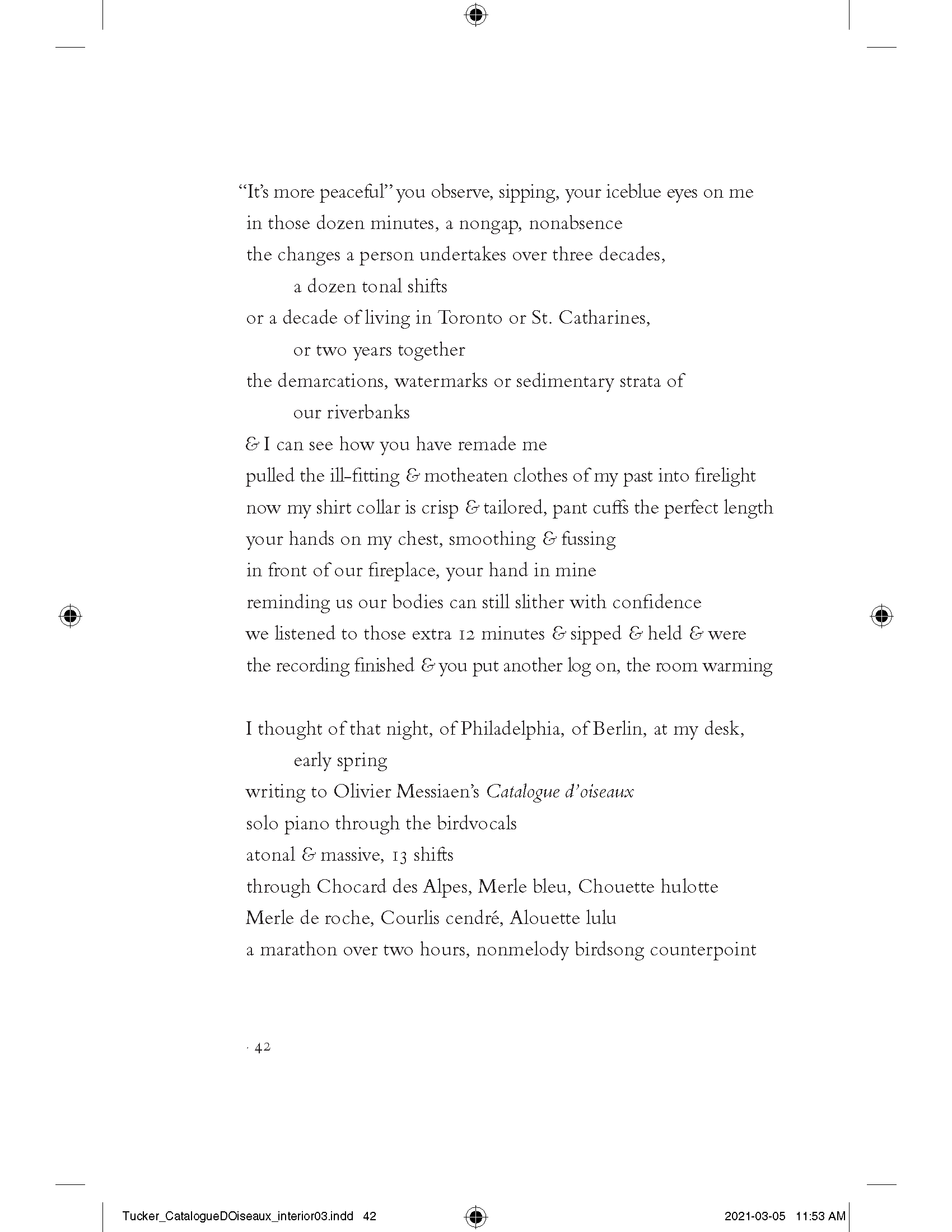 """""""Catalogue d'oiseaux,"""" pp. 42"""